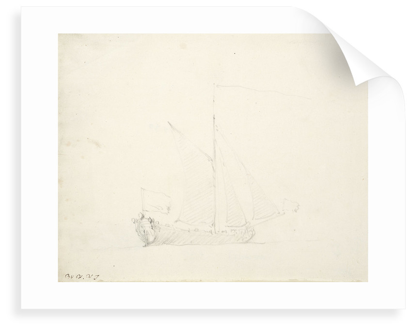 An English yacht before the wind by Willem Van de Velde the Younger