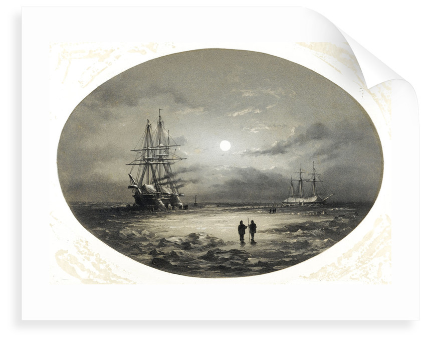 The situation of HMS 'Resolute' & 'Intrepid' as they appeared in the Arctic Sea by G.F. Macdougall
