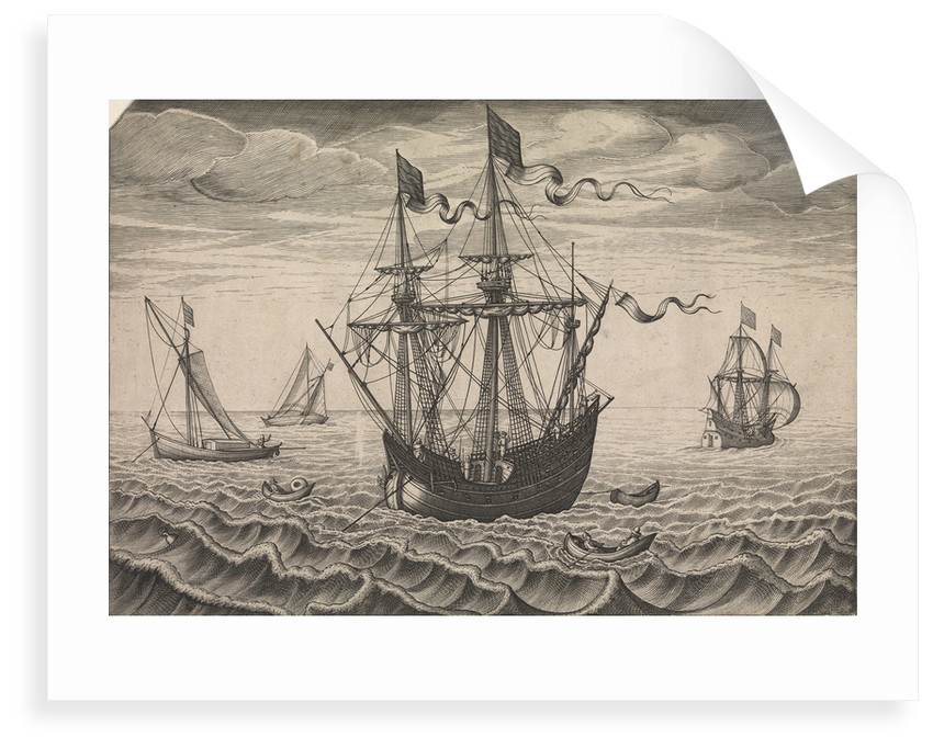 Galleon at anchor by Pieter Brueghel