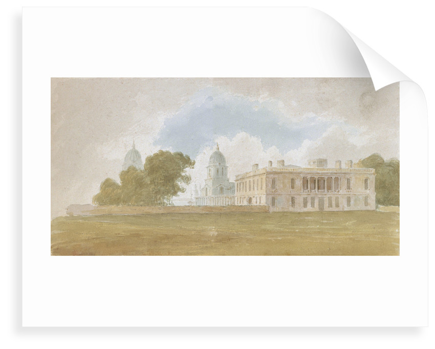 Queen's House and Greenwich Hospital by David Cox Sr