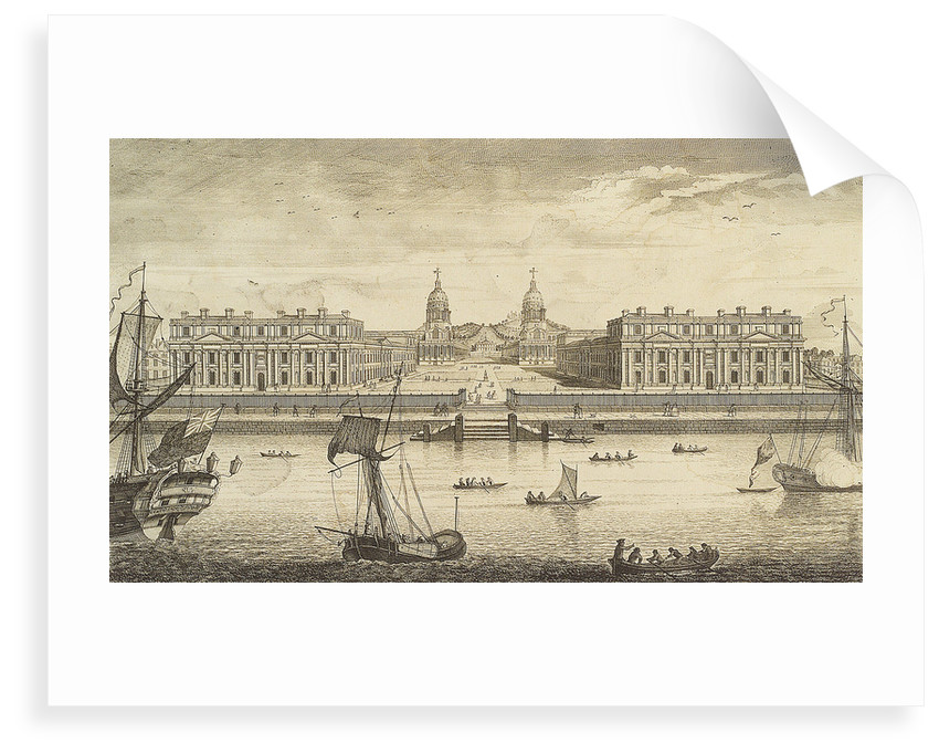 A Prospect of Greenwich Hospital from the River by J. June