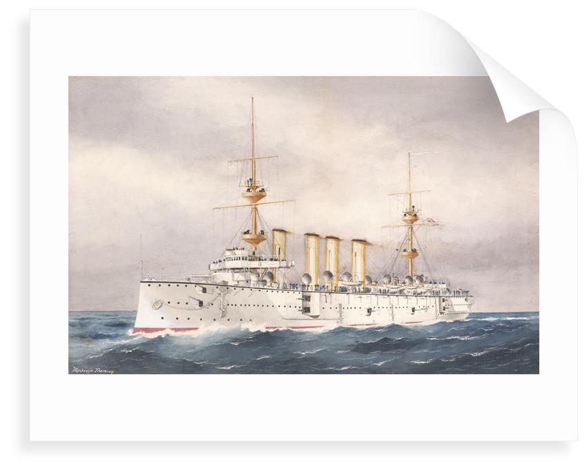 HMS 'Powerful', 1st Class cruiser launched 1895 by W. Mackenzie Thomson