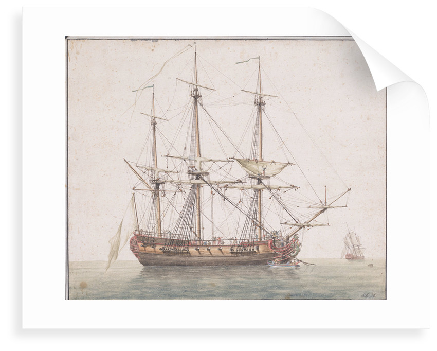 French frigate ab 1780 by O. L. M.