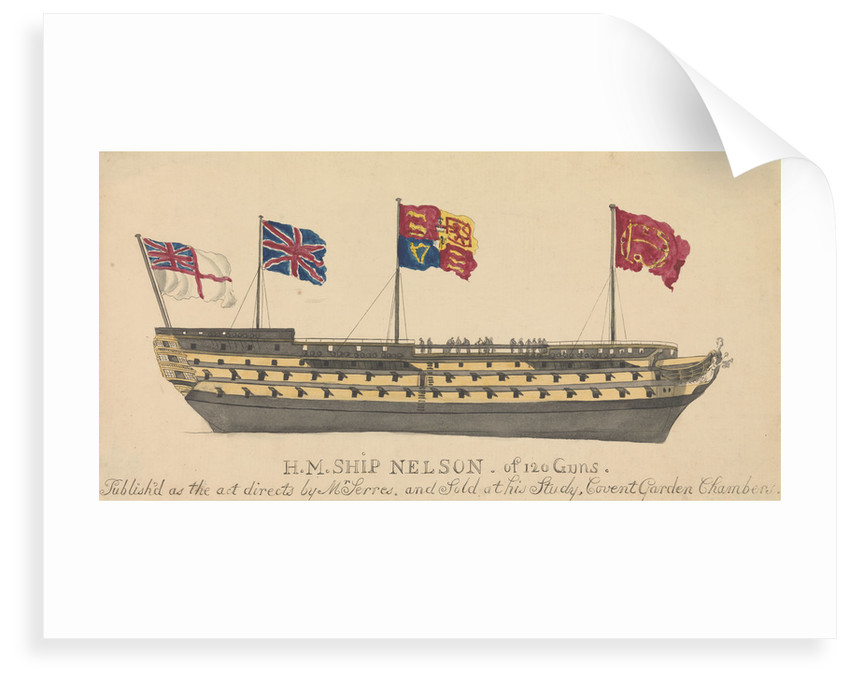 HMS 'Nelson' of 120 Guns by unknown