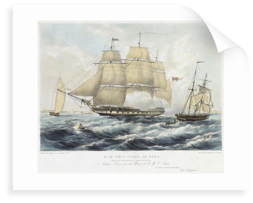 HMS 'Pique' by John Vernon