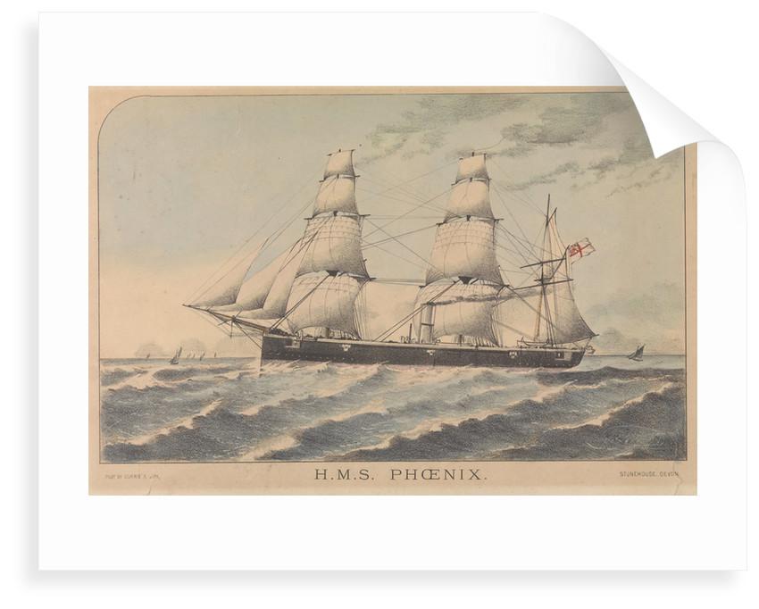 H.M.S. Phoenix by J E Wood