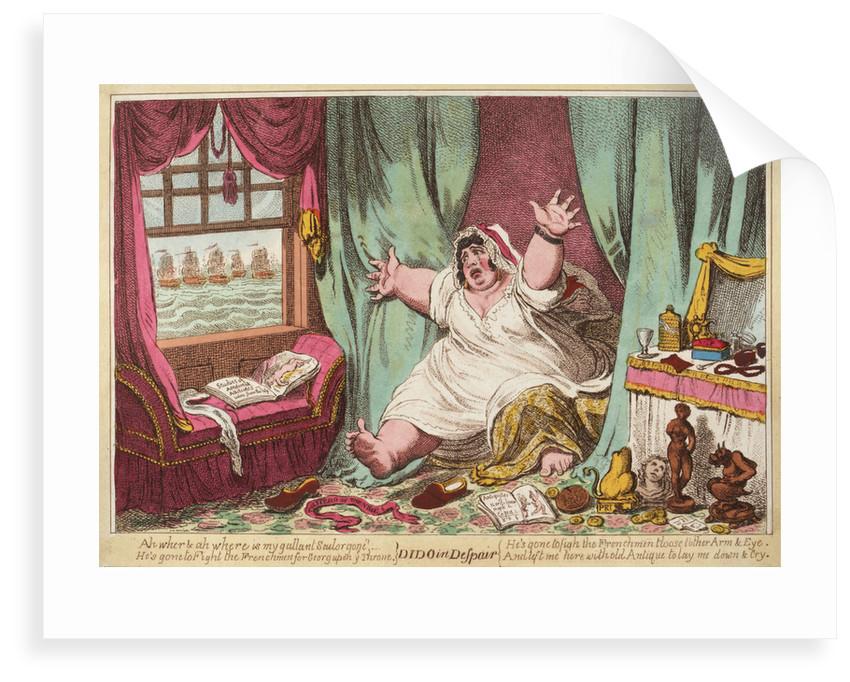 Dido in Despair by James Gillray