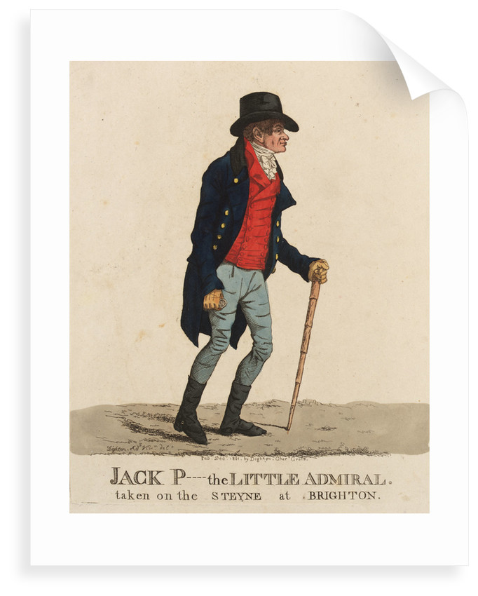Jack P---- [Payne] the Little Admiral taken on the Steyne at Brighton by unknown