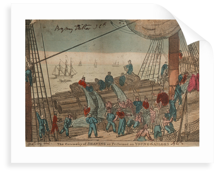 The Ceremony of Shaving as Performed on Young Sailors by George Cruikshank