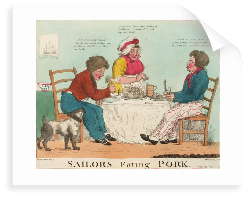 Sailors Eating Pork by George M. Woodward