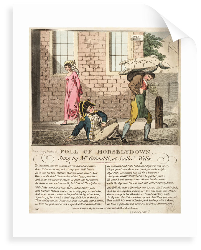 Poll of Horselydown Sung by Mr Grimaldi, at Sadlers Wells by Isaac Cruikshank