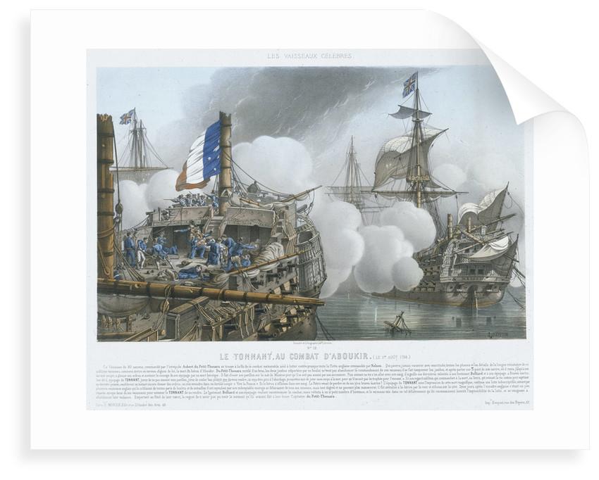Les Vaisseaux Celebres. Le Tonnant, au Combat D' Aboukir, (le 1er Aout 1798) by Louis Le Breton