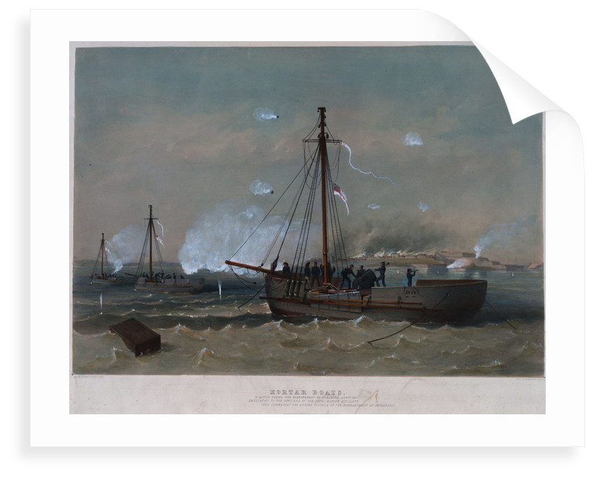 Mortar boats in action during the bombardment of Sweaborg, August 1855 by Dickinson Bros
