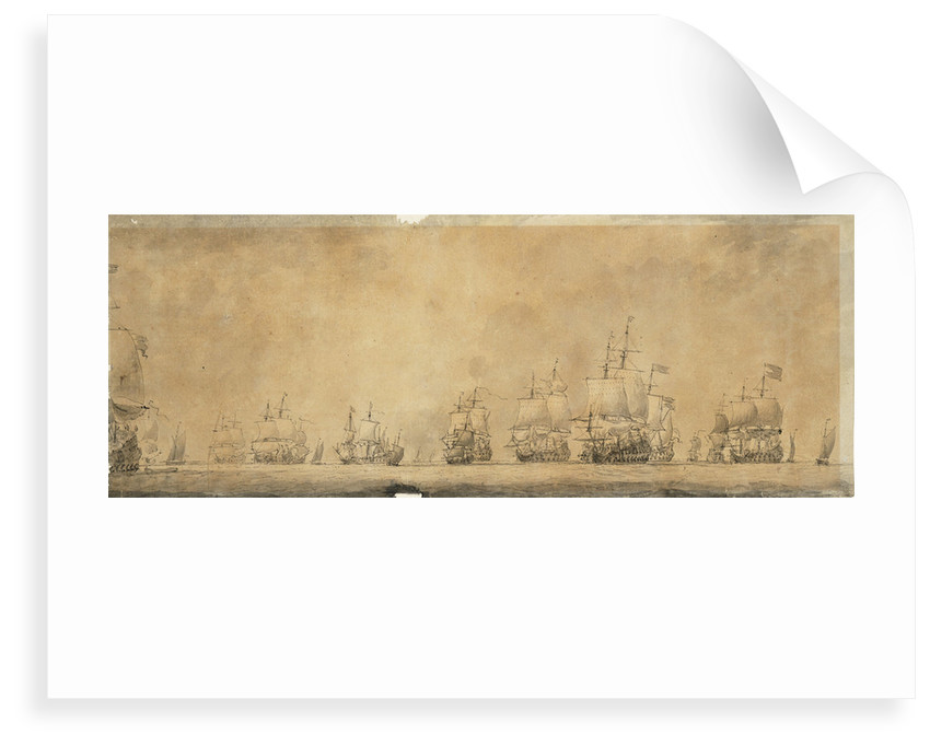 Dutch fleet by Willem van de Velde the Elder