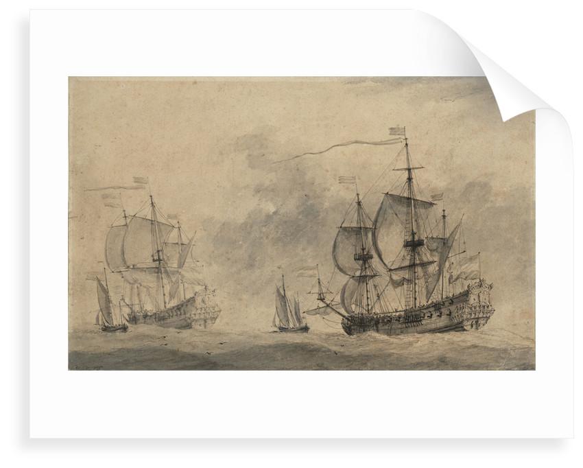 Dutch men of war by Willem van de Velde the Elder