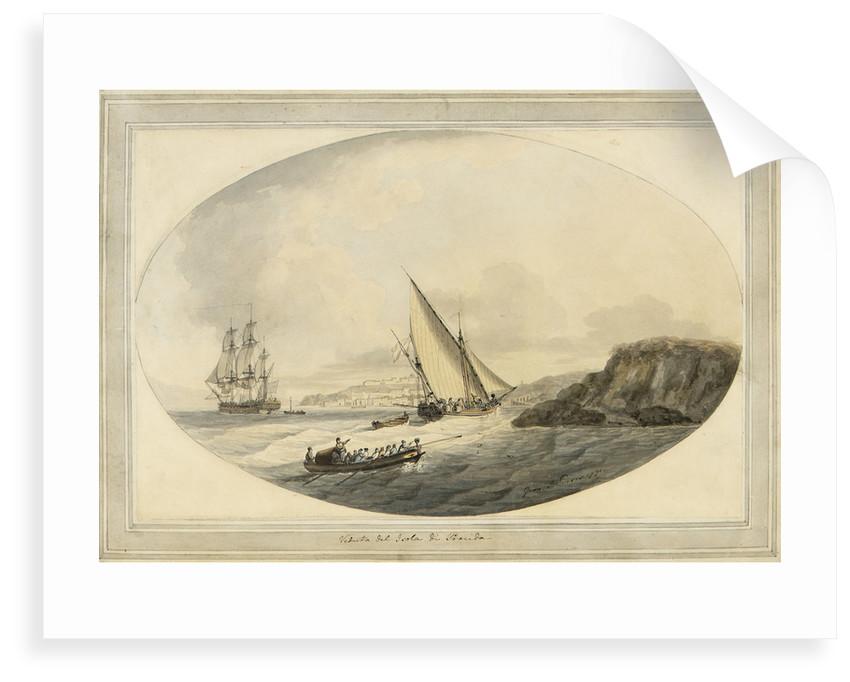 View of the island of Procida by John Thomas Serres