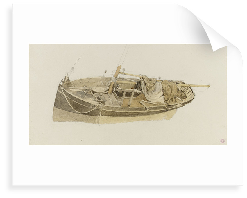 Study of an oyster dredger by Edward Duncan