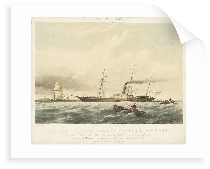 The iron steam ship 'Victoria' by Thomas Sewell Robins