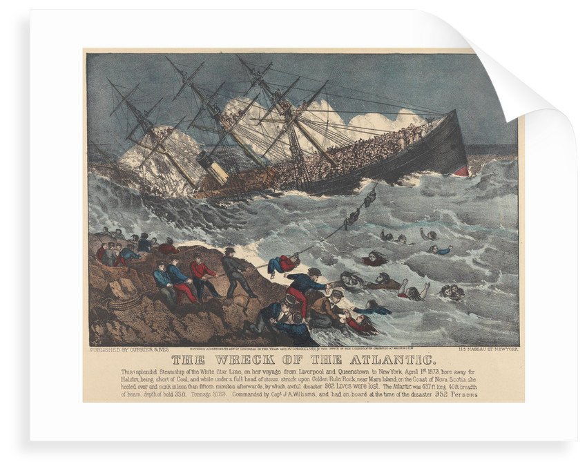 The Wreck of the 'Atlantic' by Currier & Ives (publishers)