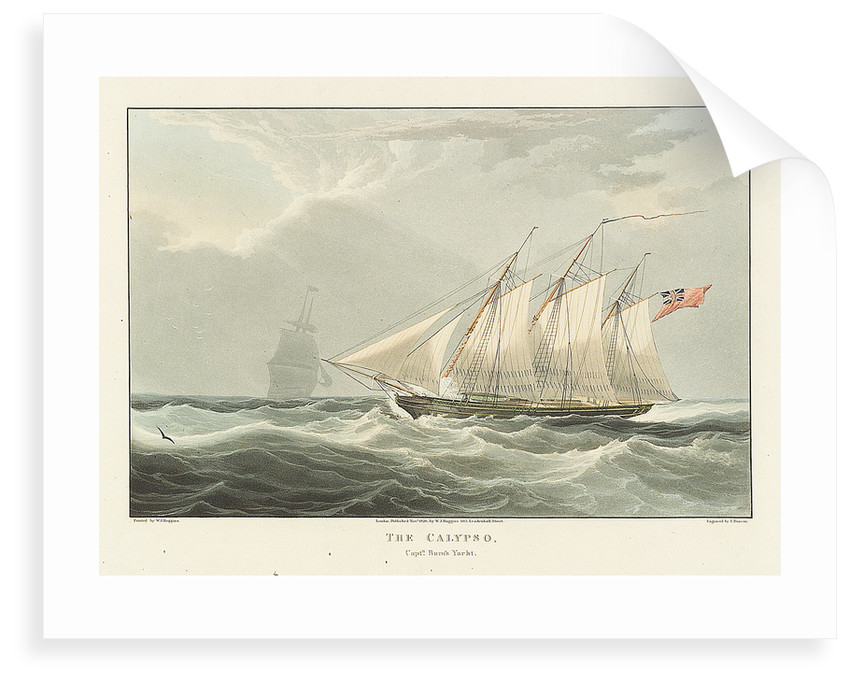 Captain Burn's yacht 'Calypso' by William John Huggins