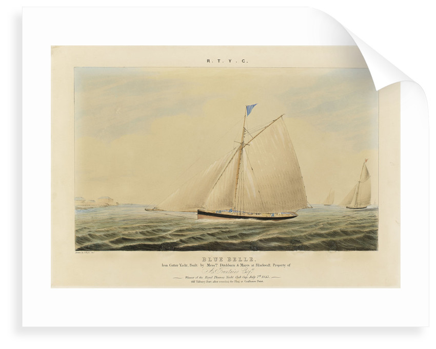 'Blue Belle' iron cutter yacht by J. Rogers