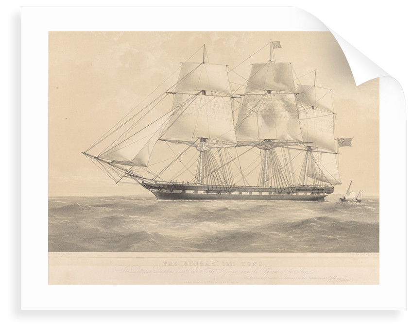 The 'Dunbar' (1853) 1321 tons by Thomas Goldsworth Dutton