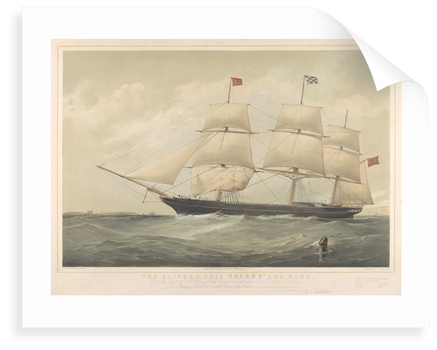The clipper ship 'Solent' by Thomas Goldsworth Dutton