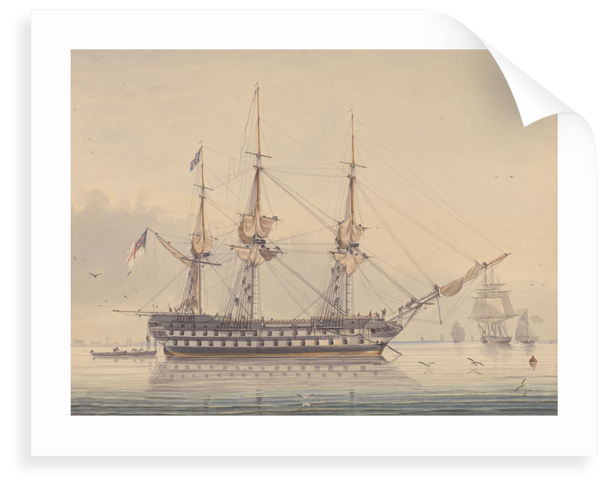 HMS 'Donegal' by George Pechell Mends