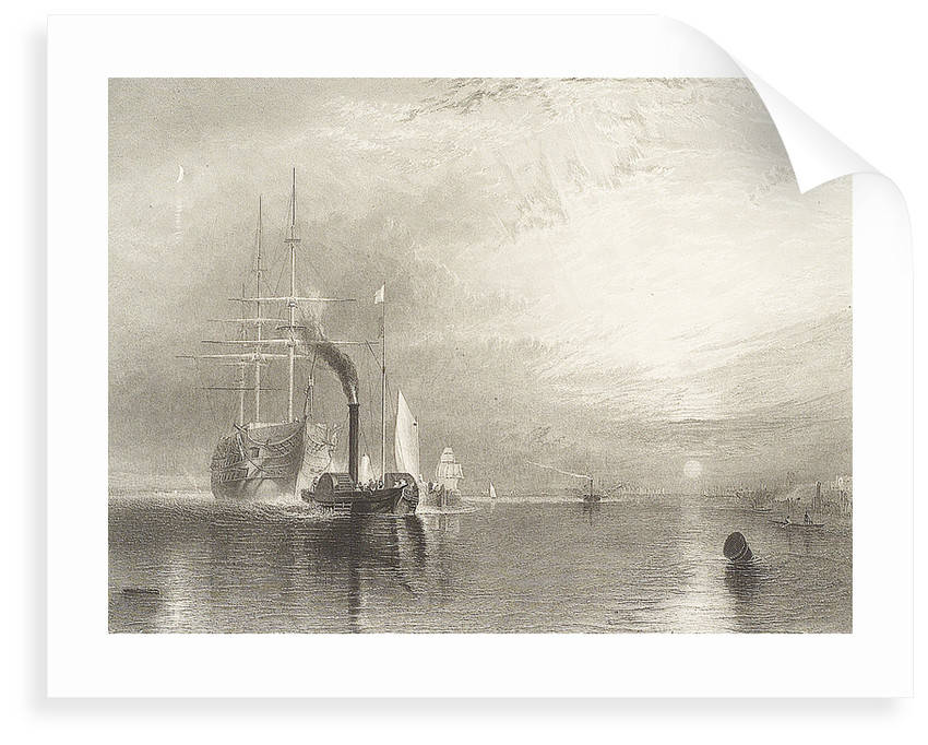 The Fighting Temeraire (after original oil by Turner) by James Tibbetts Wilmore