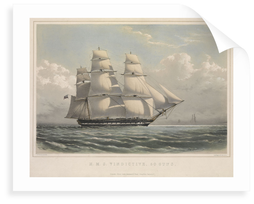 HMS 'Vindictive', 50 guns, in full sail by J.H. Vernon