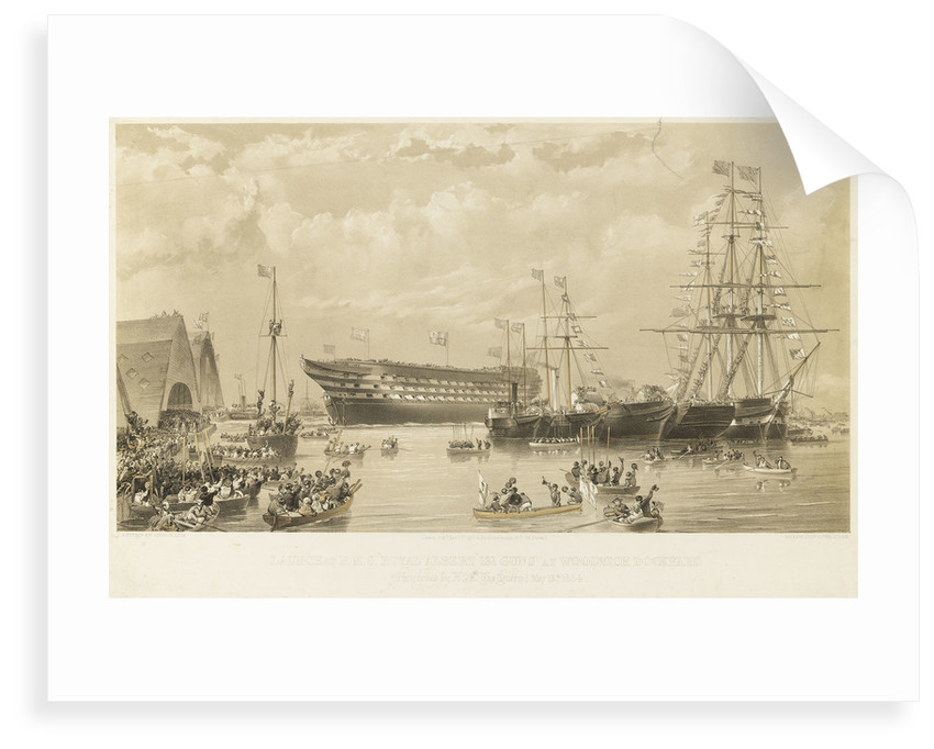 Launch of HMS 'Royal Albert' by Thomas Goldsworth Dutton