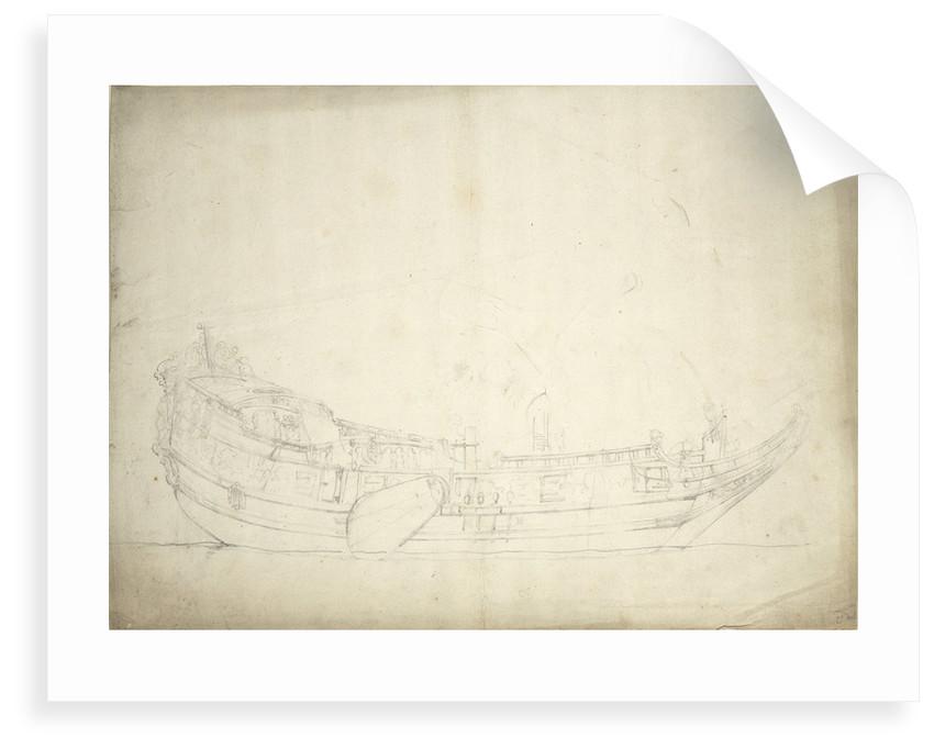 Portrait of a states yacht by Willem van de Velde the Elder