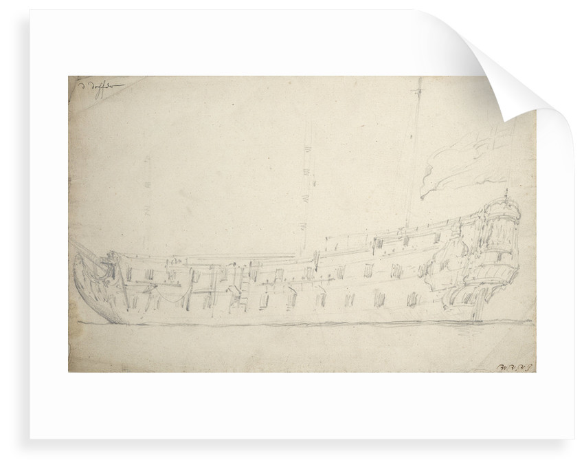 Portrait of the 'Dover' by Willem Van de Velde the Younger