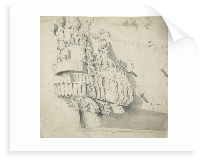 The stern of the 'Hampton Court' by Willem van de Velde the Elder