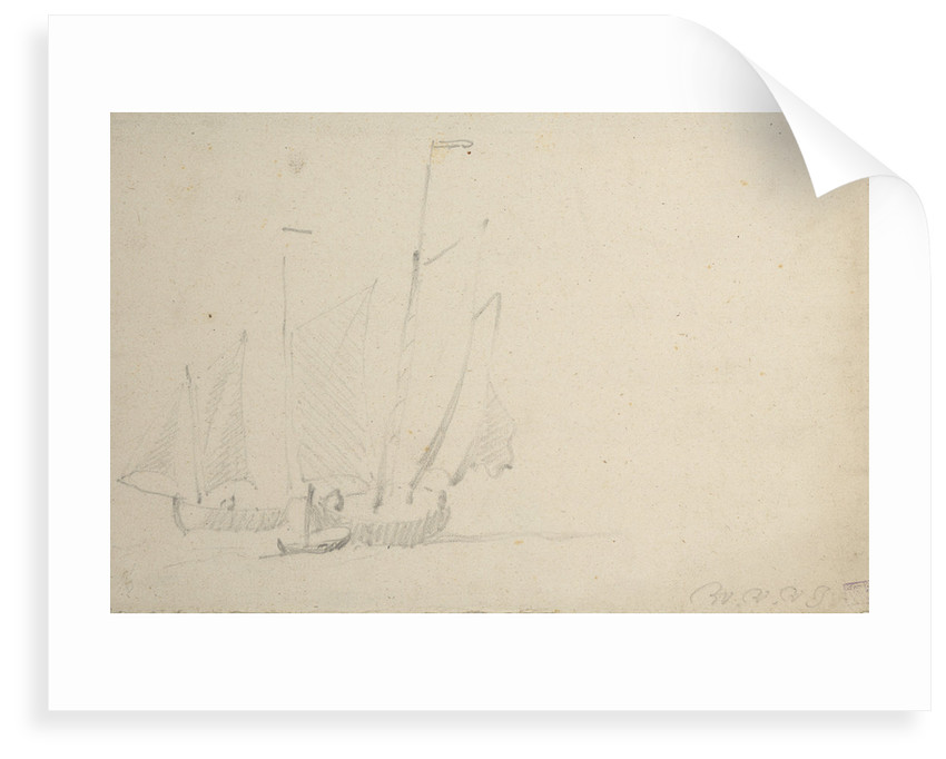 Two pinks under sail by Willem Van de Velde the Younger
