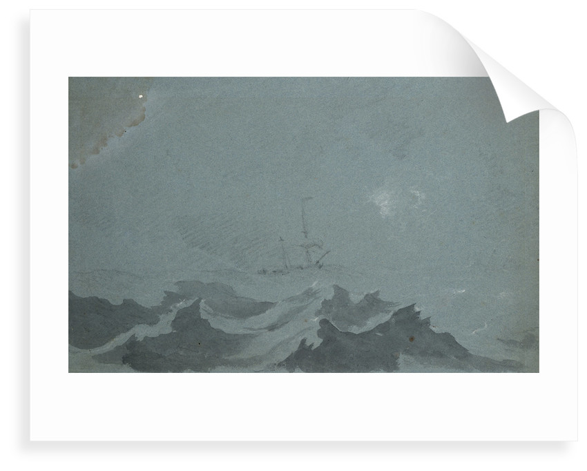A dismasted ship scudding in a heavy sea by Willem Van de Velde the Younger