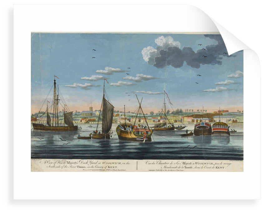 A view of His Majesty's dockyard at Woolwich, on the south side of the River Thames, in the County of Kent by John Cleveley