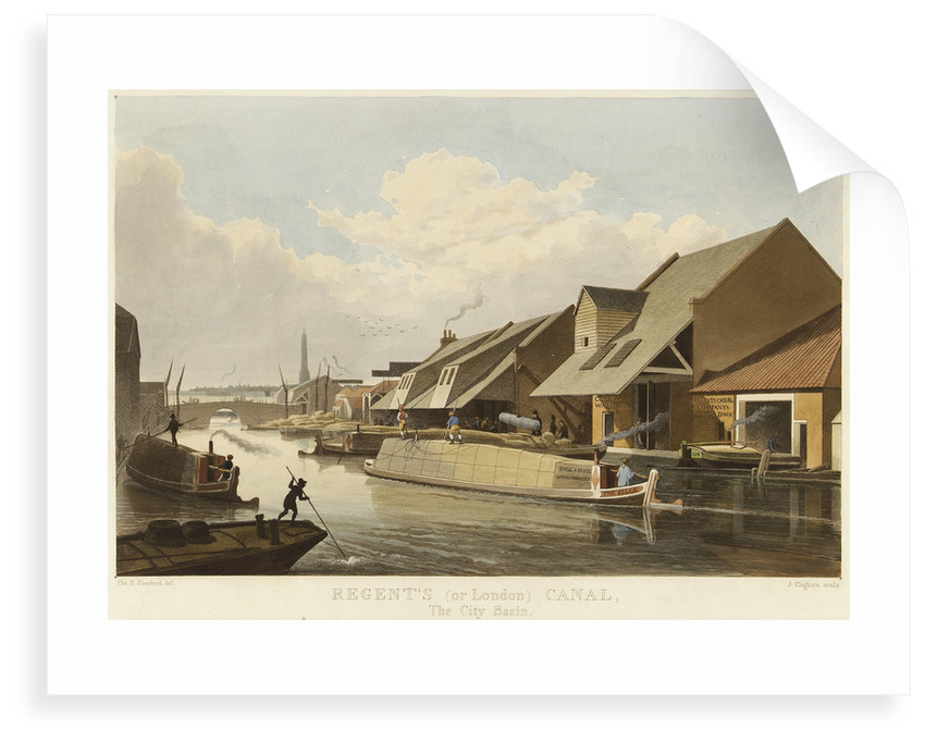 Regent's (or London) Canal, The City Basin by Thomas H. Shepherd