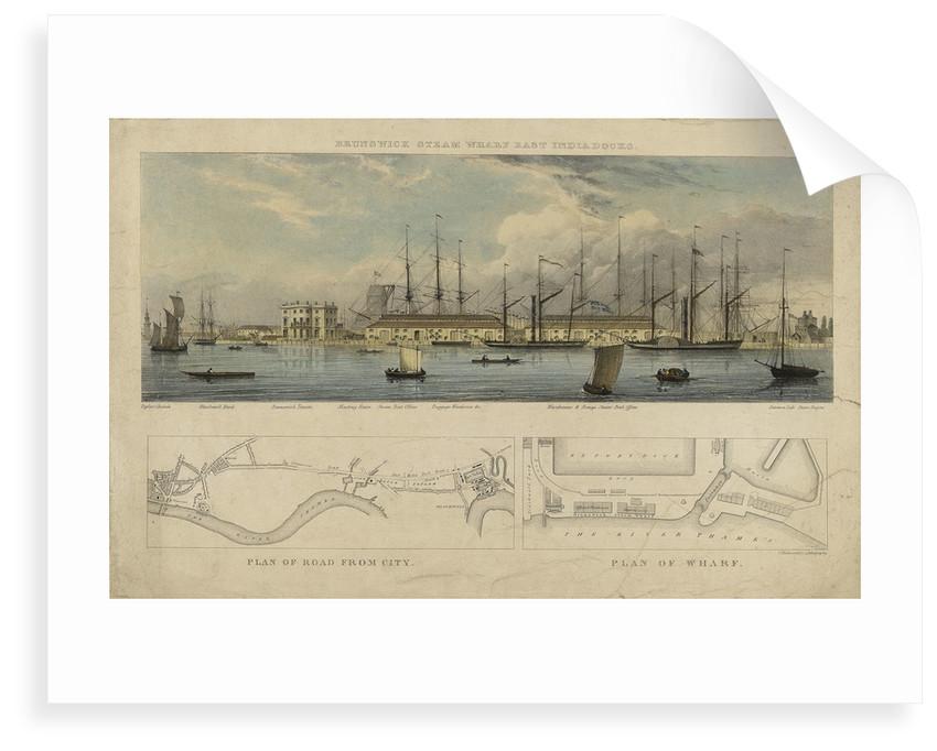 Brunswick steam wharf East India Docks by W.L.W.