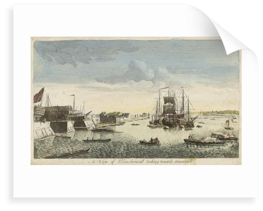 View of Blackwall looking towards Greenwich by J. Heudelot