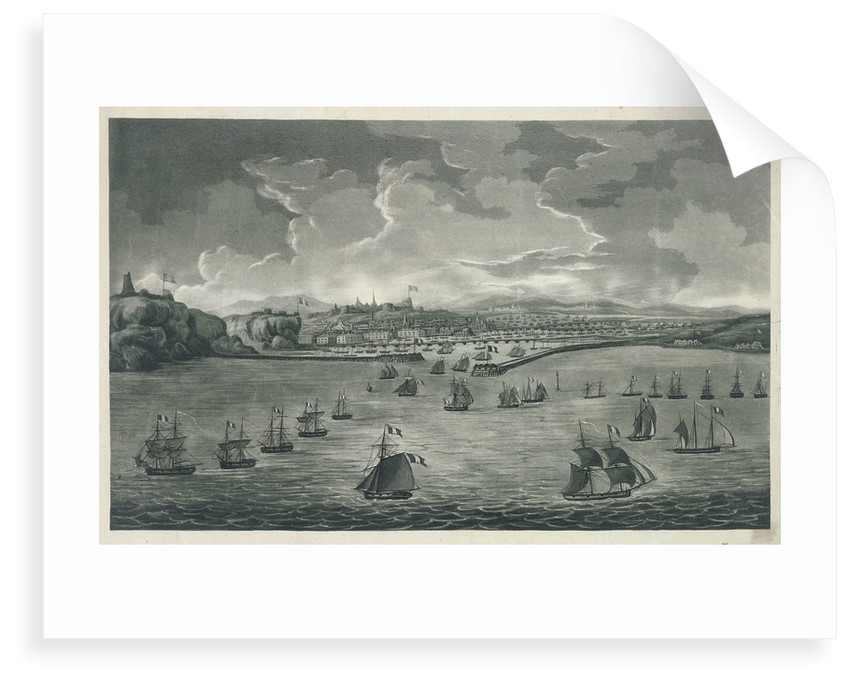 Boulgone, high water, 1800, boats preparing for invasion of England by unknown