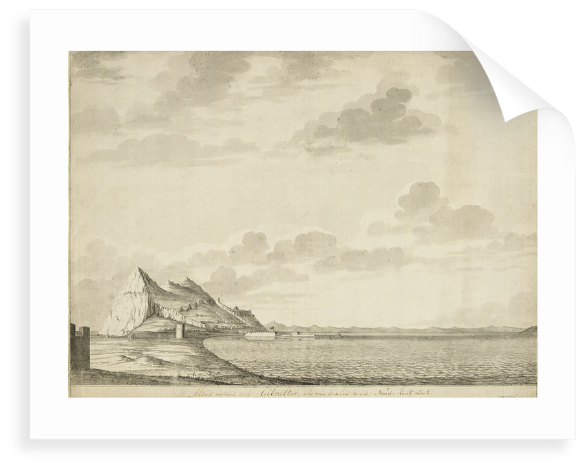 A view of Gibraltar from the north by unknown