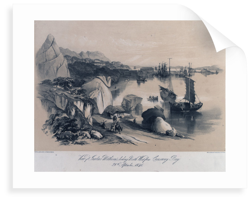 View of Jardine Mathison's (Hong Kong) looking north west from Causeway Bay, 28 September 1846 by M. Bruce