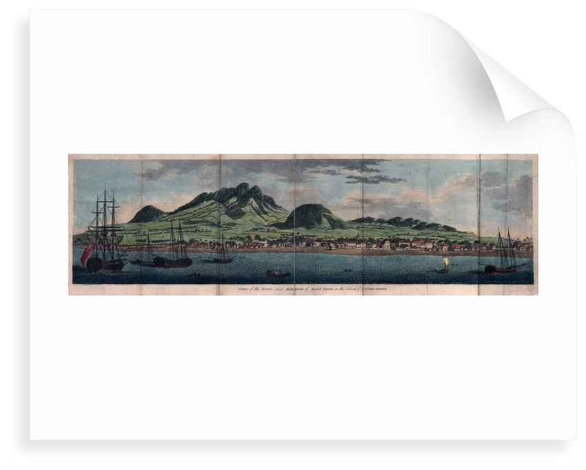 View of the town and harbour of Basse Terre in the island of St Christopher by unknown
