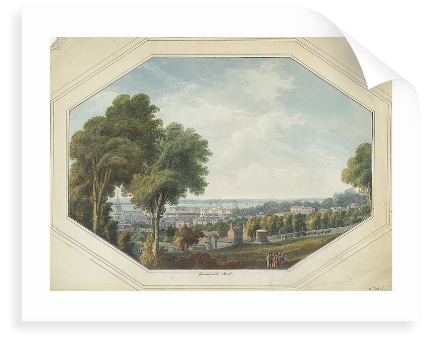 Greenwich from the Point, circa 1820 by George Heriot