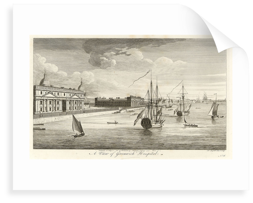 A view of Greenwich Hospital by John Boydell