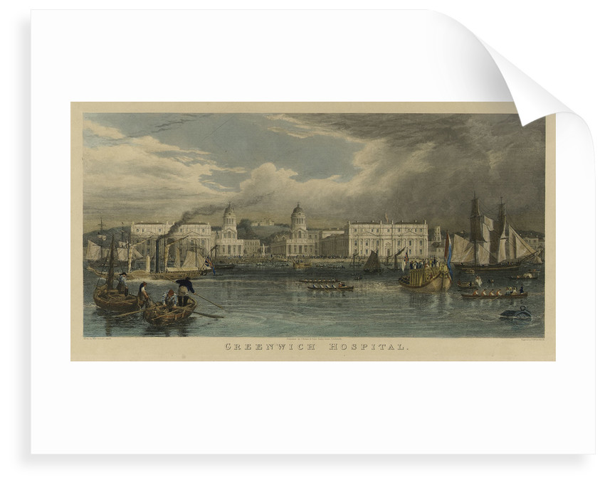 A royal visit to Greenwich Hospital by William Havell