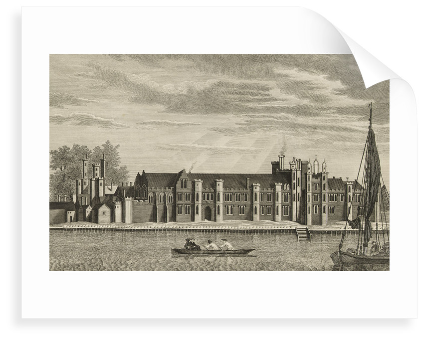 A View of the Ancient Royal Palace called Placentia, in East Greenwich (the original drawing for this is at the Bodleian, Gough Collection) by James Basire