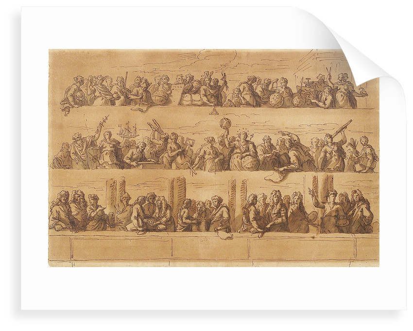 Designs for the ends of the ceiling of the Painted Hall by James Thornhill