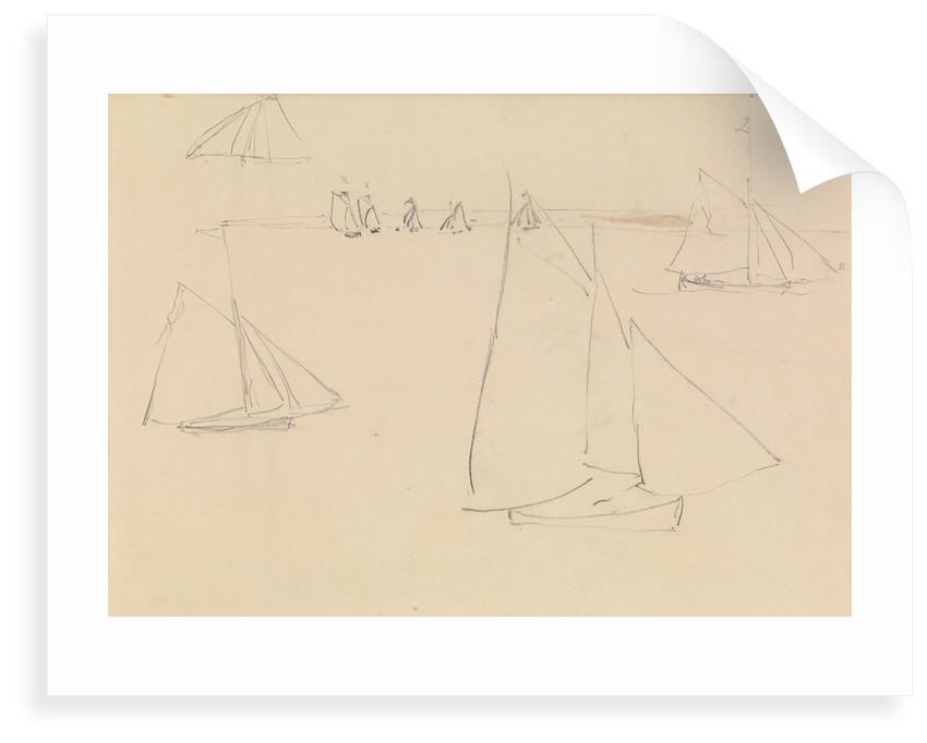 Studies of yachts sailing by John Christian Schetky